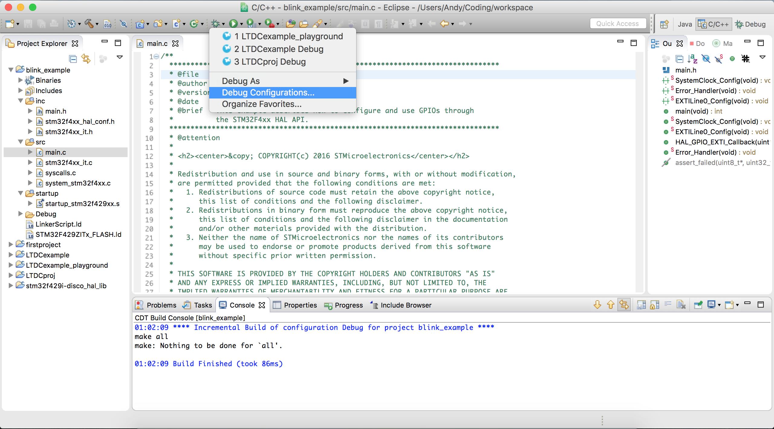 STM32F429 Discovery Mac OSX Tutorial | monoclecat de